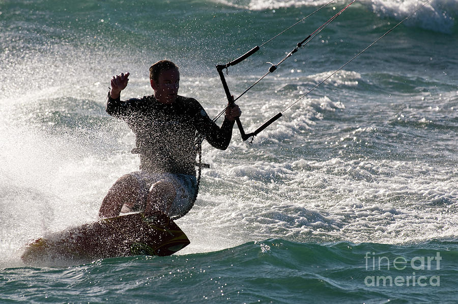 Australia Photograph - Kite Surfer 01 by Rick Piper Photography