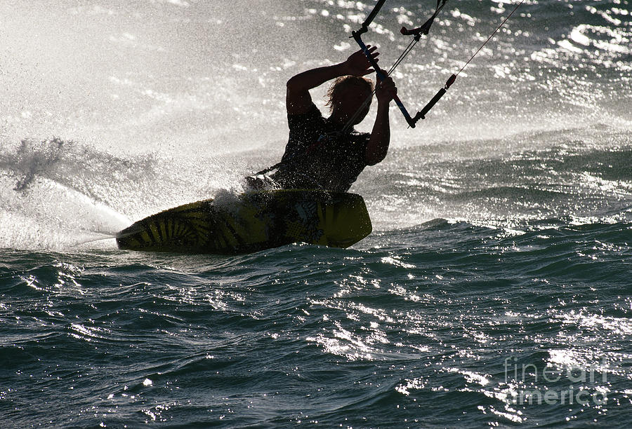 Australia Photograph - Kite Surfer 02 by Rick Piper Photography
