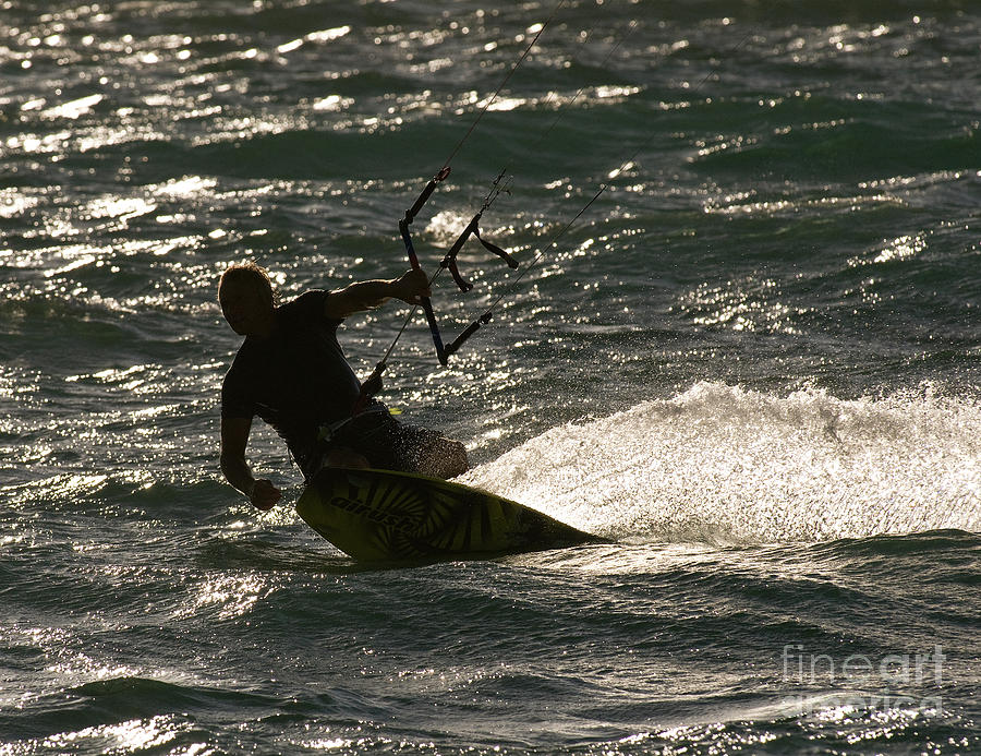 Australia Photograph - Kite Surfer 03 by Rick Piper Photography