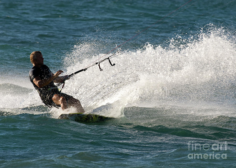 Australia Photograph - Kite Surfer 04 by Rick Piper Photography
