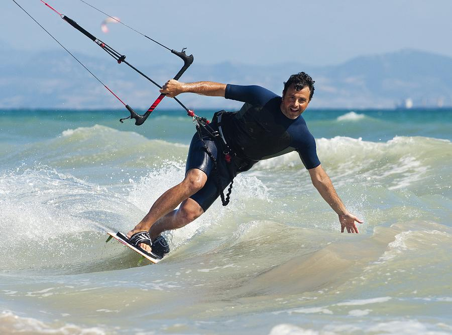 Kite Surfing In Front Of Hotel Dos Photograph