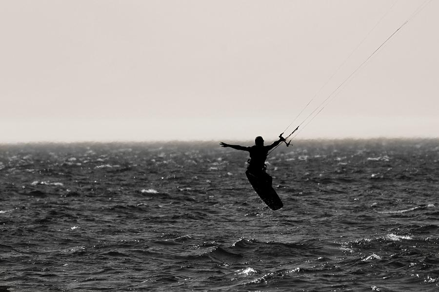 Kitesurfing Photograph - Kite Surfing Pose by Dan Sproul