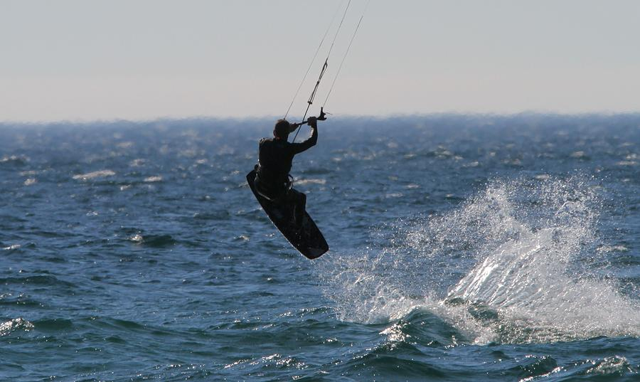 Kitesurfing Photograph - Kite Surfing Wakeboard by Dan Sproul