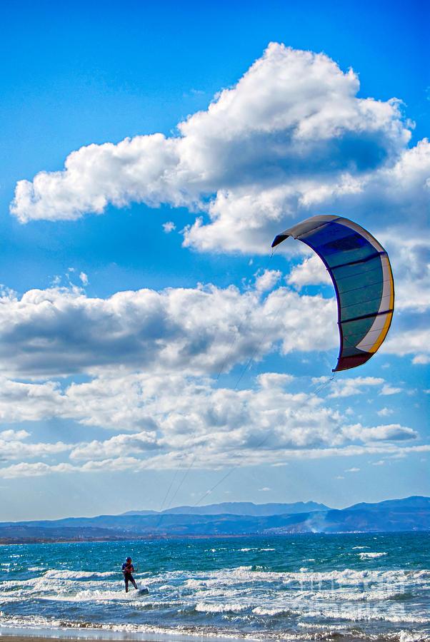 Kitesurfing Photograph - Kitesurfer by Antony McAulay