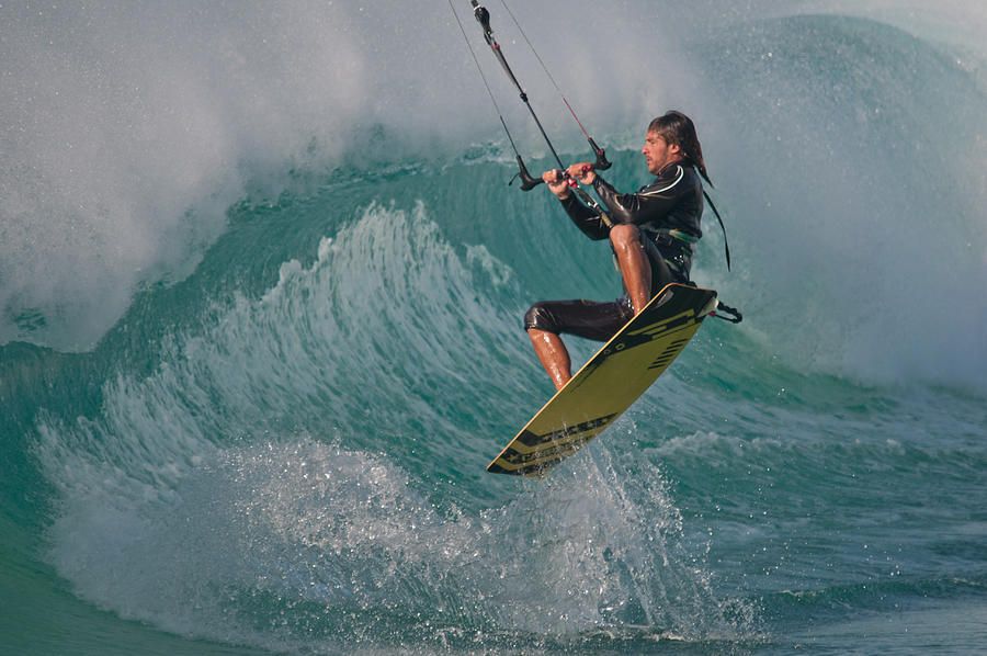 Andalucia Photograph - Kiting Los Lances by AJM Photography