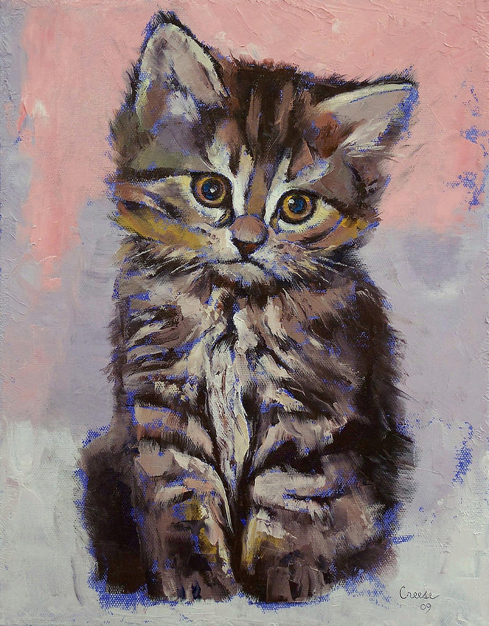 Cat Painting - Kitten by Michael Creese