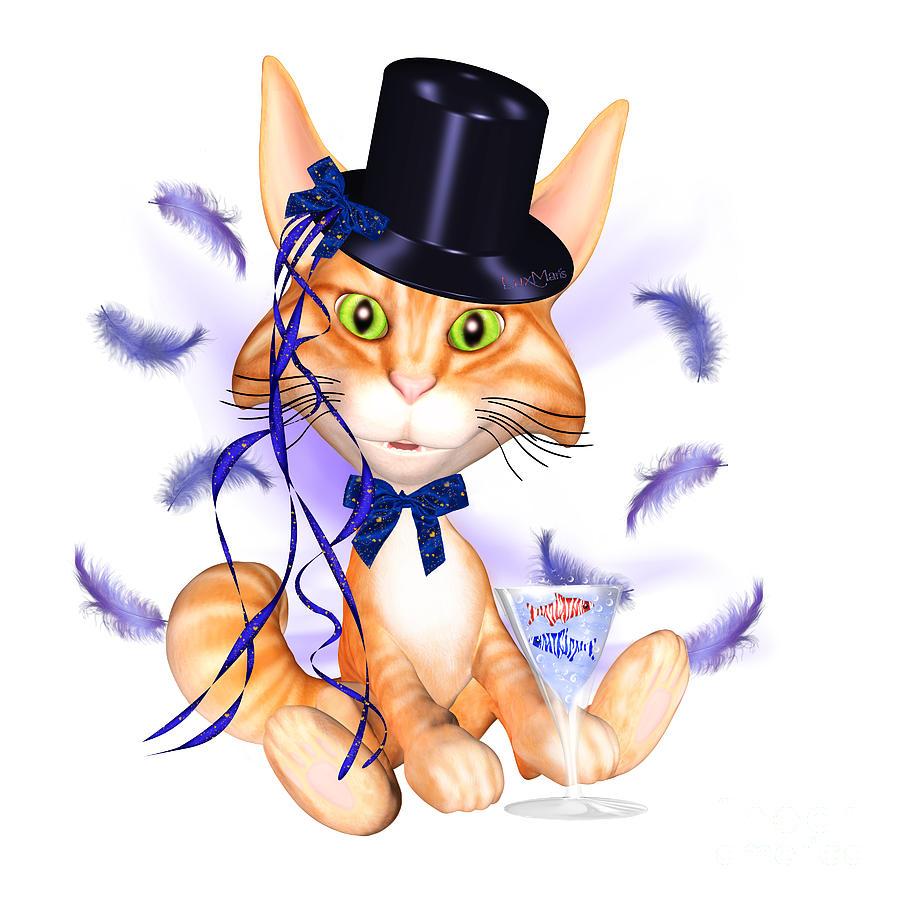 Cats Painting - Kitticat Party Design by Renate Janssen