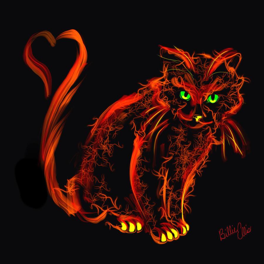 Cat Digital Art - Kitty Passion by Billie Jo Ellis