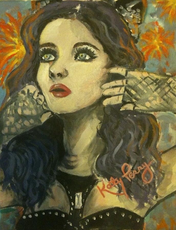 Katy Perry Painting - Kitty Perry by Alana Meyers