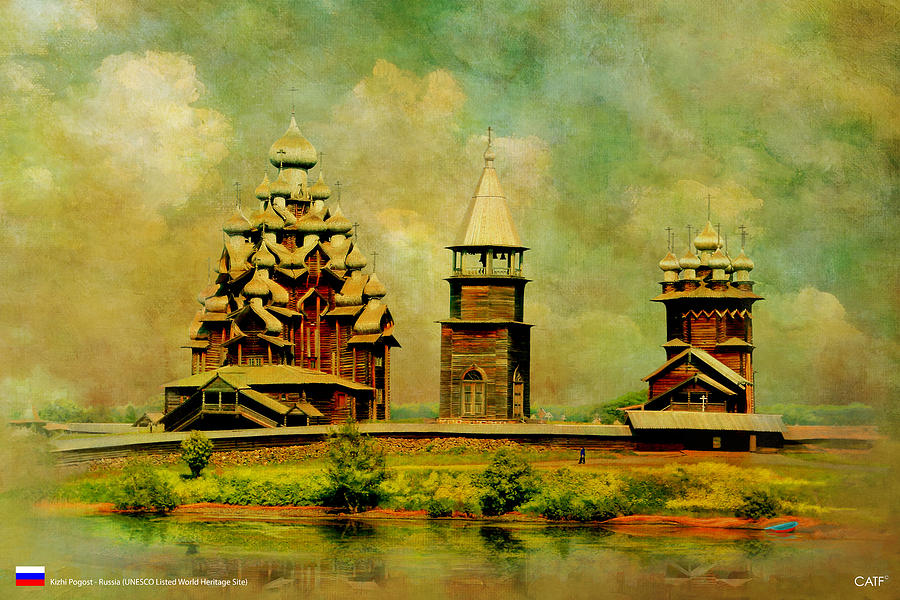 Kizhi Pogost Painting by Catf