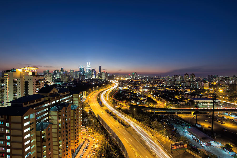 Kuala Lumpur Photograph - Kl At Blue Hour by David Gn