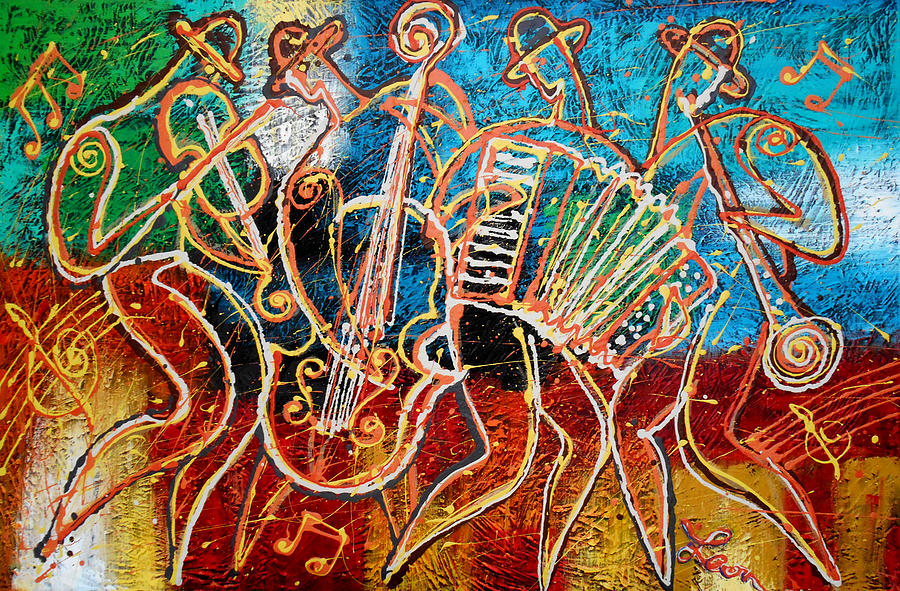 Klezmer Music Band Painting