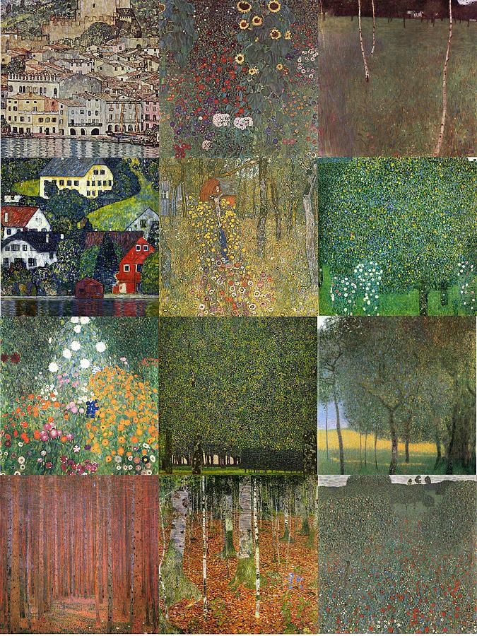 Klimt Painting - Klimt Landscapes Collage by Philip Ralley
