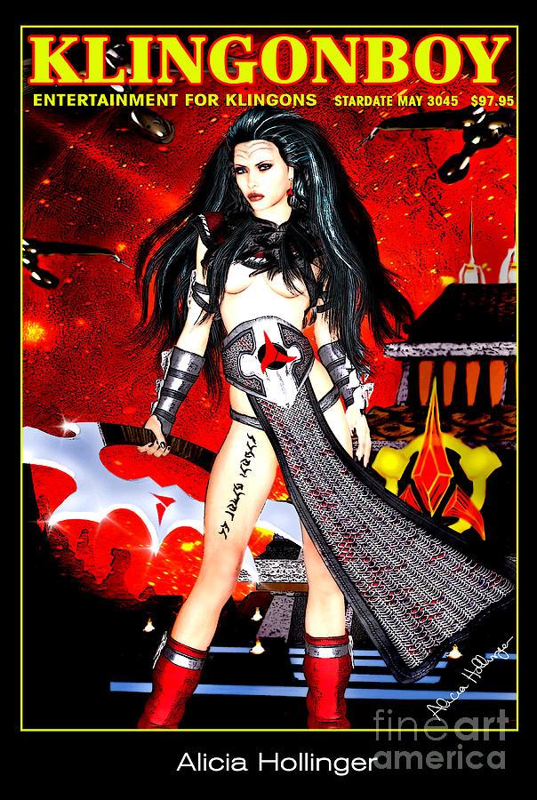 Klingon Mixed Media - Klingonboy Magazine  by Alicia Hollinger