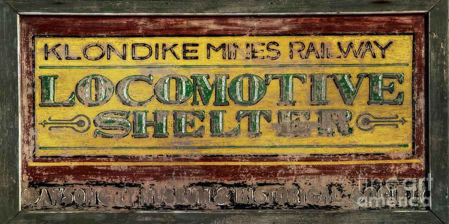 Locomotive Shelter Photograph - Klondike Mines Railway by Priska Wettstein