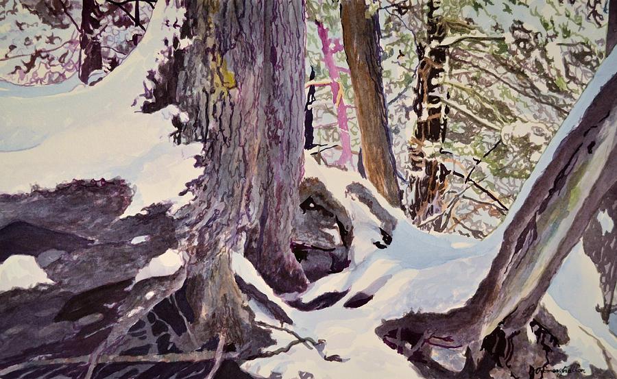Snow Painting - Knape Winter by Thomas Stratton