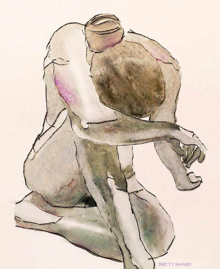 Kneeling nude by Brett Shand