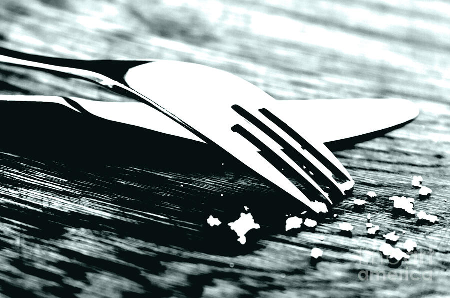 Fork Photograph - Knife And Fork by Blink Images