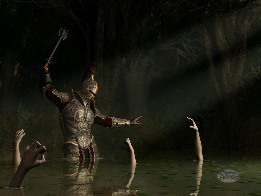 Knight Digital Art - Knight In A Haunted Swamp by Daniel Eskridge