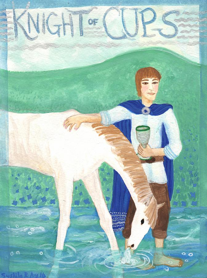 Tarot Painting - Knight Of Cups by Sushila Burgess