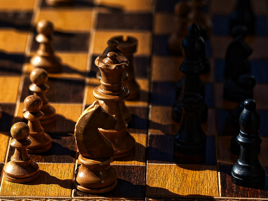 Chess Photograph - Knight Takes Bishop by Camille Lopez