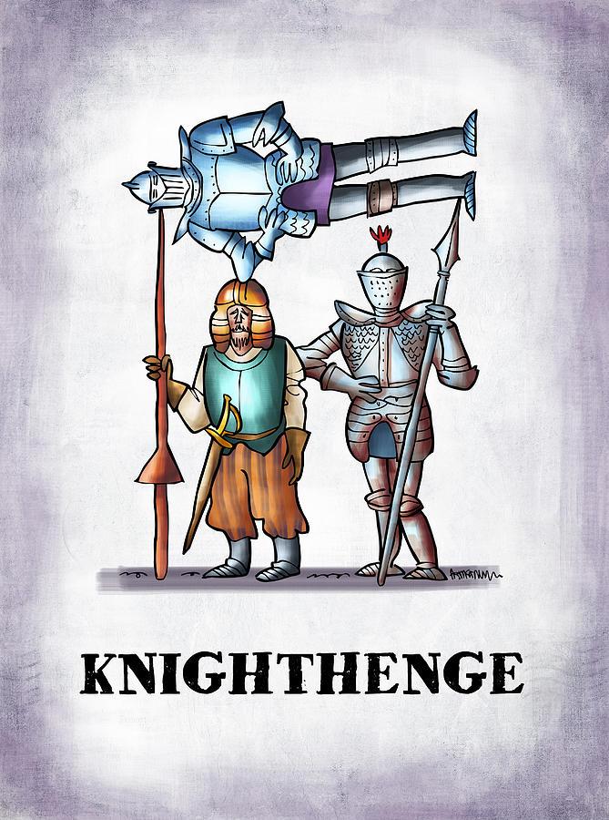 Stonehenge Digital Art - Knighthenge by Mark Armstrong
