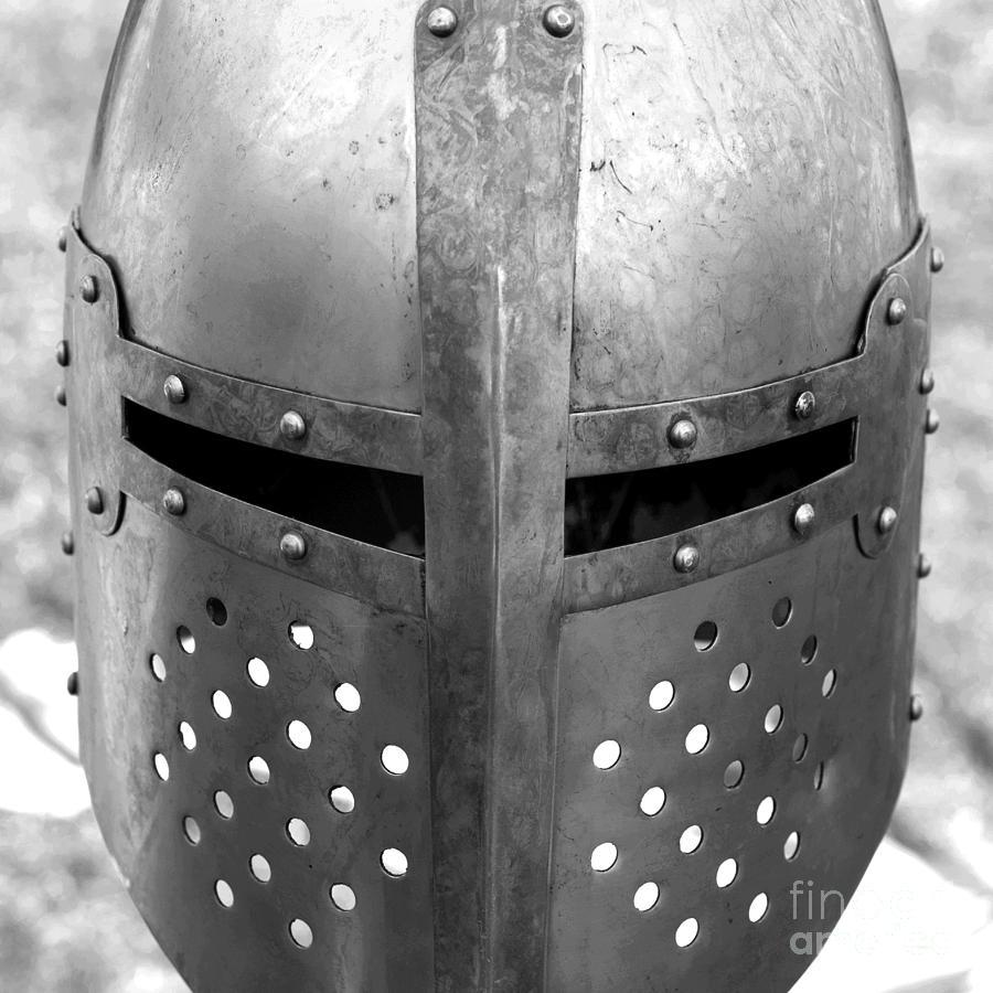 knights helmet photograph by carl perkins