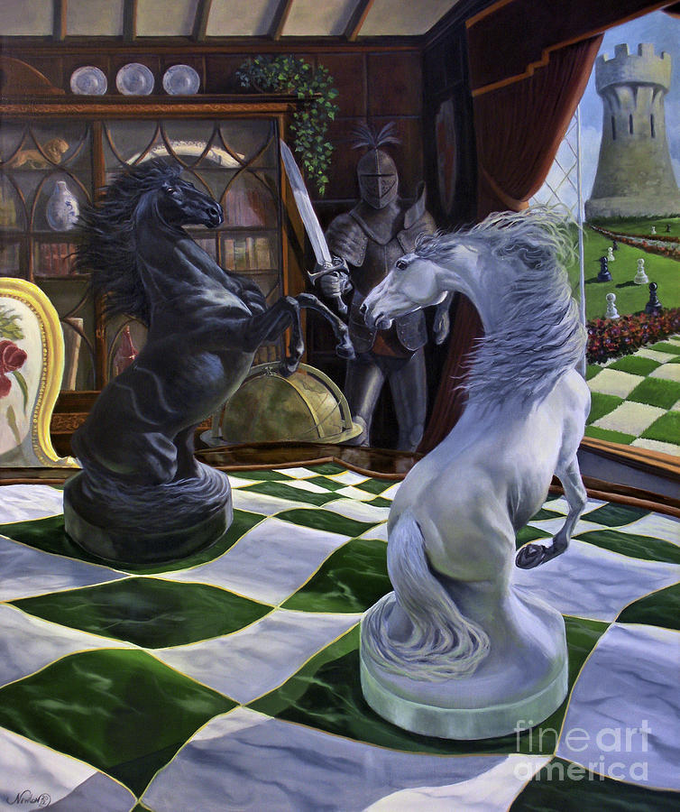 Horse Painting - Knights Magic by Jeanne Newton Schoborg