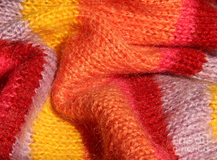 Warm Tapestry - Textile - Knitted Textile by Kerstin Ivarsson