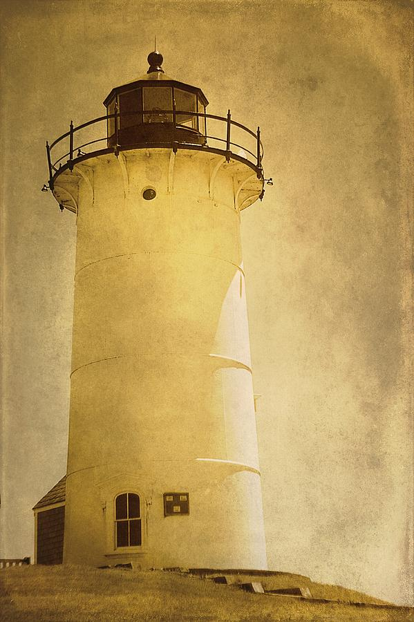 Beach House Photograph - Knobska Point Light Lighthouse Woods Hole Ma by Suzanne Powers