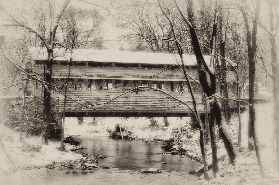 Knox Photograph - Knox Valley Forge Covered Bridge by Bill Cannon
