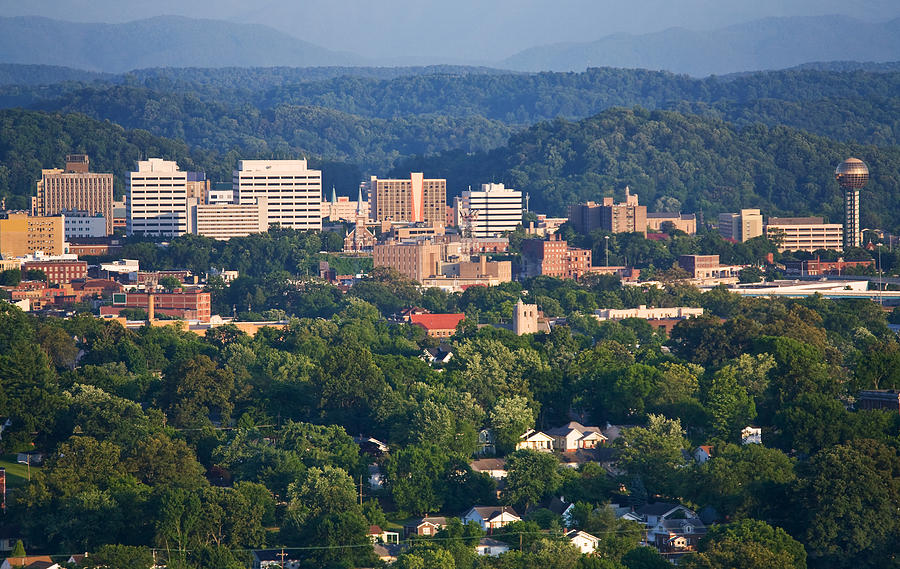 Skyline Photograph - Knoxville Skyline In Summer by Melinda Fawver