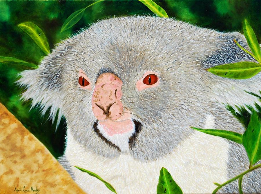 Koala Painting - Koala by April Moseley