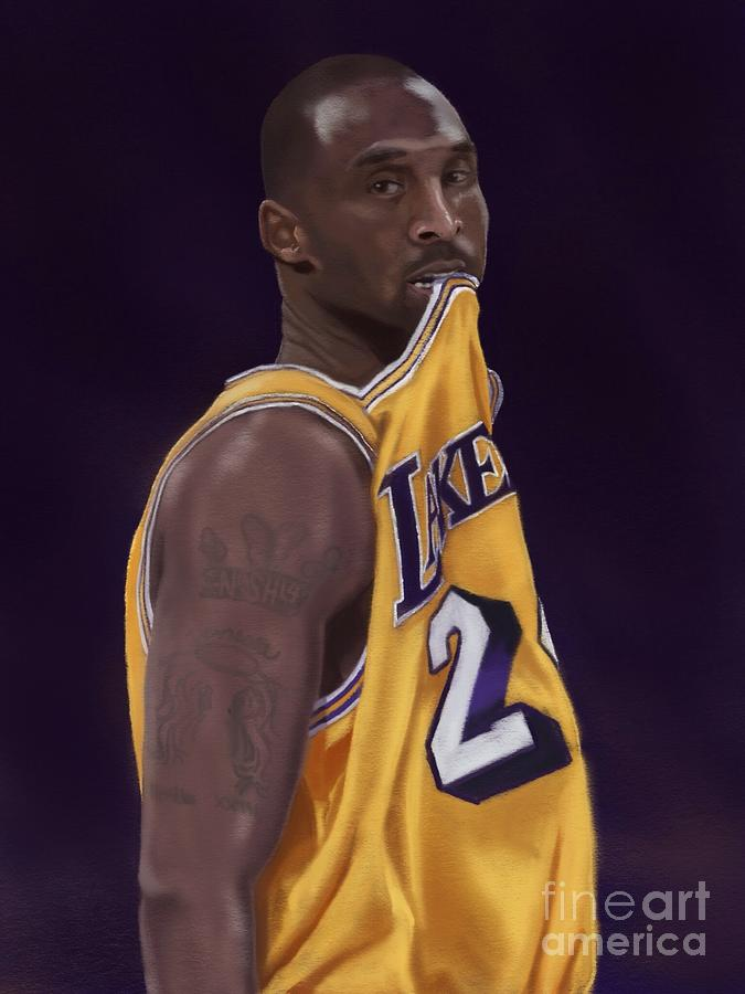 Kobe Digital Art - Kobe Bean Bryant by Jeremy Nash