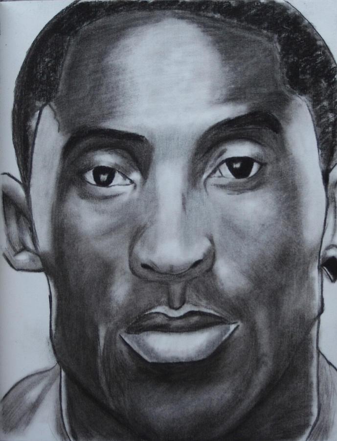 Basketball Drawing - Kobe Bryant by Aaron Balderas