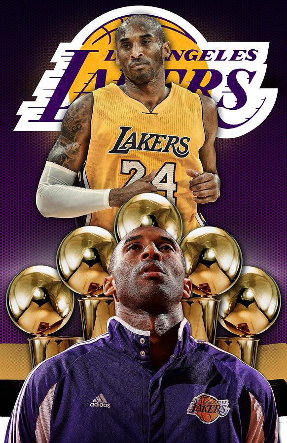 Kobe Bryant POSTER PHONE COVER 2 Digital Art by Nicholas ...