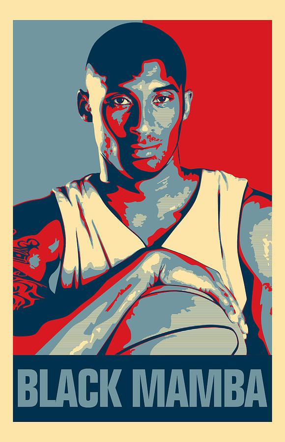 Kobe Bryant Digital Art - Kobe Bryant by Taylan Apukovska