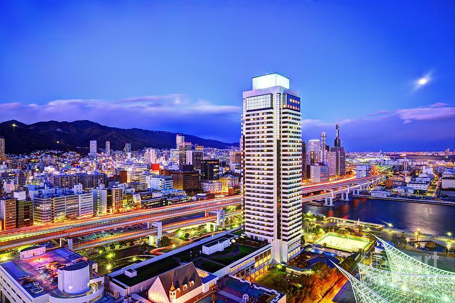 Skyline Photograph - Kobe Japan by Sean Pavone