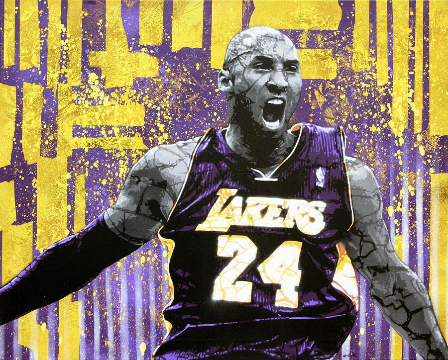 Kobe Painting - Kobe The Destroyer by Bobby Zeik