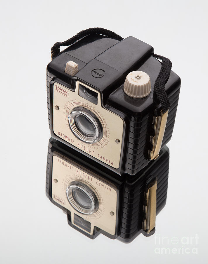 Reflection Photograph - Kodak Brownie Bullet Camera Mirror Image by Edward Fielding