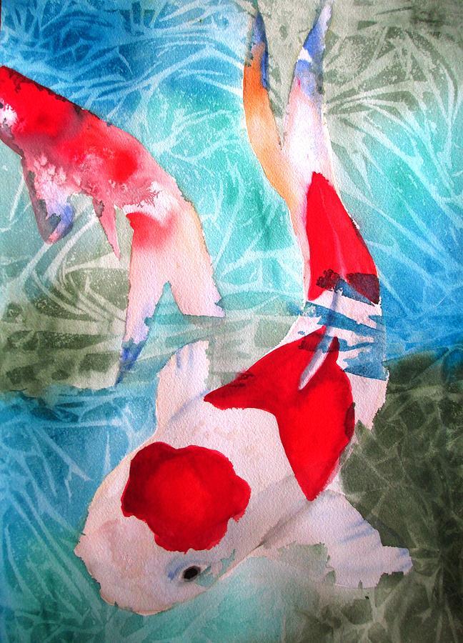 Koi Painting - Kohaku Koi 2 by Sacha Grossel