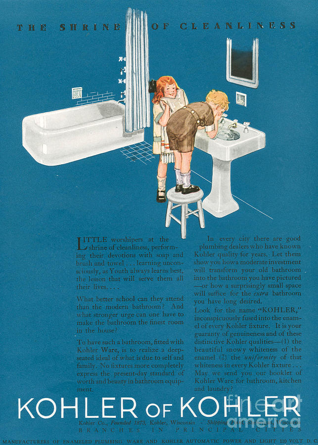 1920s Drawing - Kohler 1923 1920s Usa Cc Bathrooms by The Advertising Archives