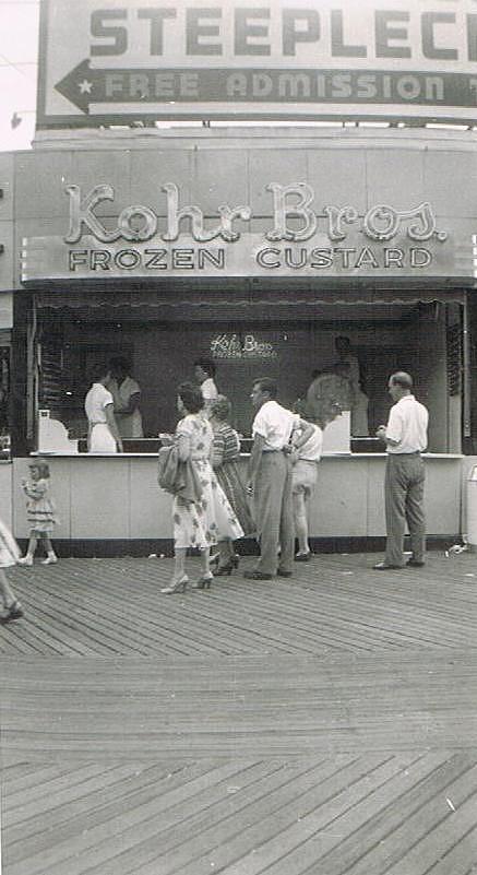Boardwalk Photograph - Kohr Bros Frozen Custard Atlantic City Nj by Joann Renner