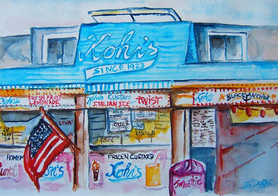 Custard Painting - Kohrs Frozen Custard by Elaine Duras