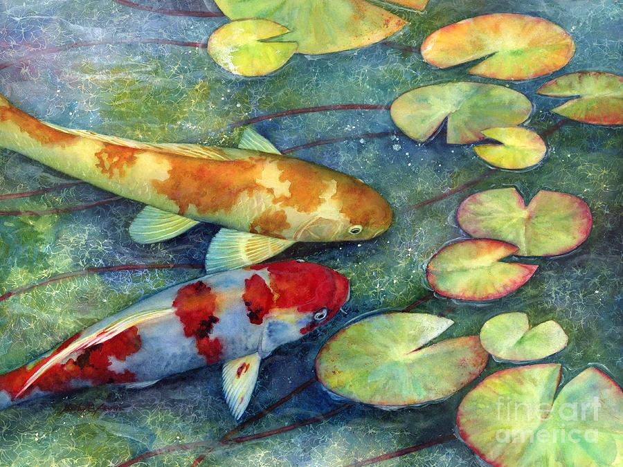 Koi Painting - Koi Garden by Hailey E Herrera