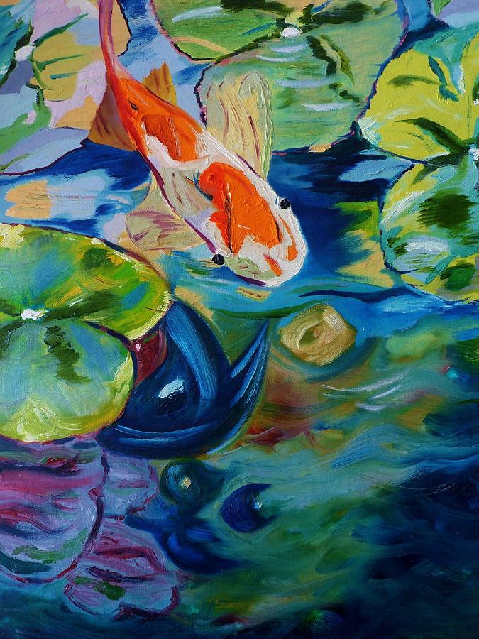 Pond Painting - Koi by Nancy Milano