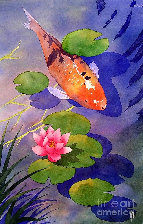 Koi pond painting by robert hooper for Koi pool paint