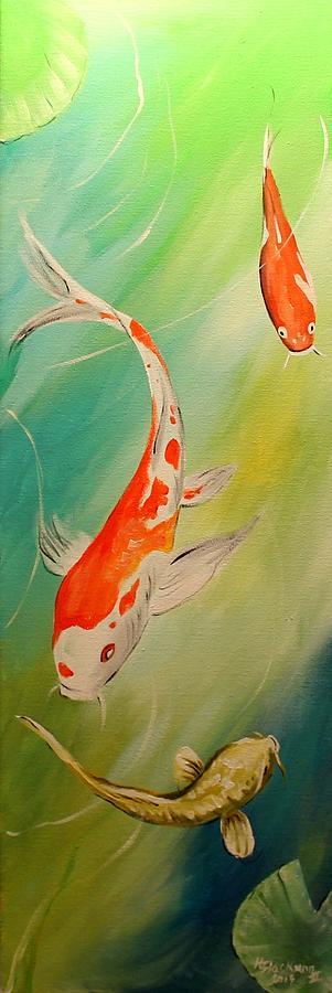 Animal Painting - Koi Story by Henry Blackmon