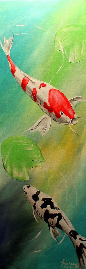 Animal Painting - Koi Story II by Henry Blackmon