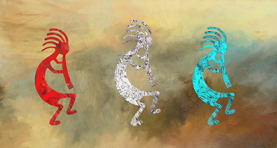 Kokopelli Painting - Kokopellis by GCannon
